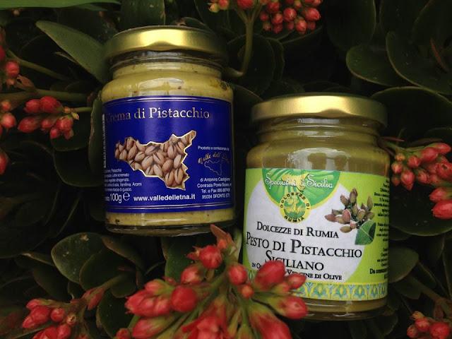 pesto e crema di pistacchi di Bronte