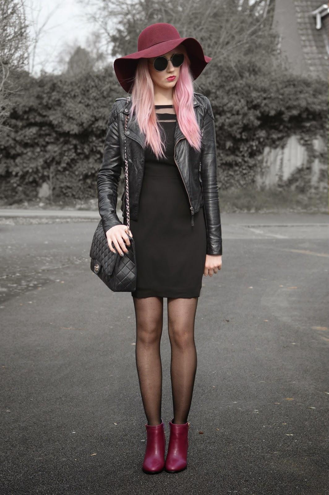 Sammi Jackson - Pink, Burgundy + Black