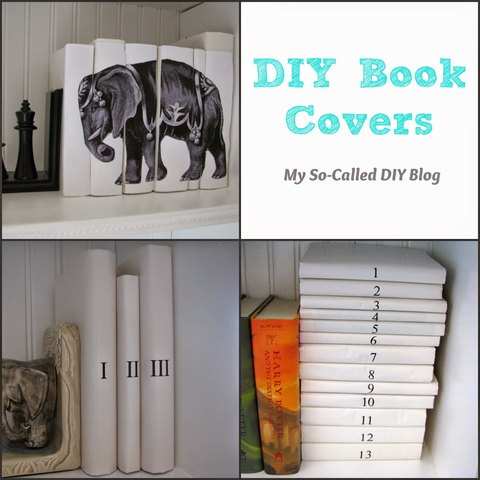 Diy Book Cover For Textbook : My so called diy book covers
