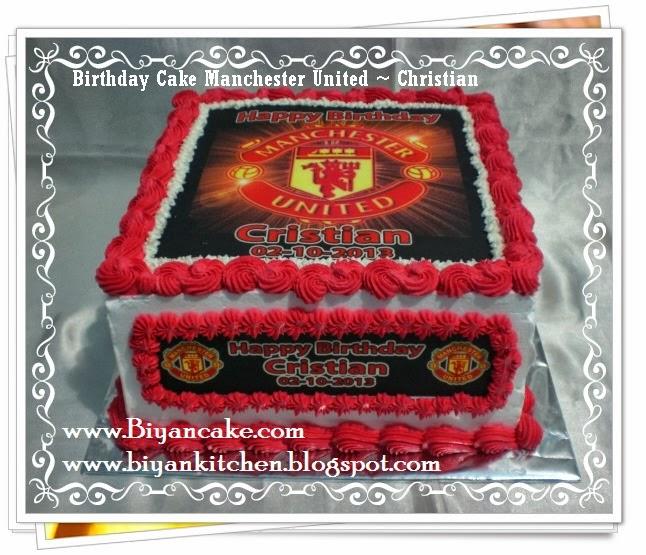 Pesan Kue tart di bekasi : Kue tart Manchester United ~ Christian