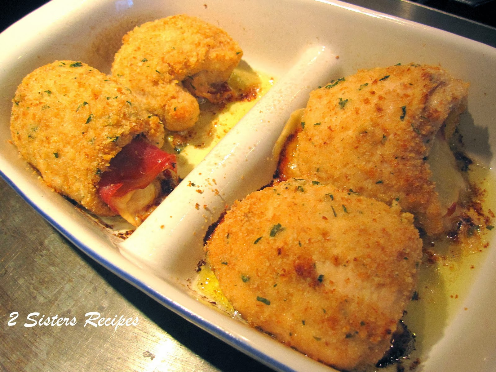 Chicken Rollatini With Prosciutto And Cheese Recipe — Dishmaps