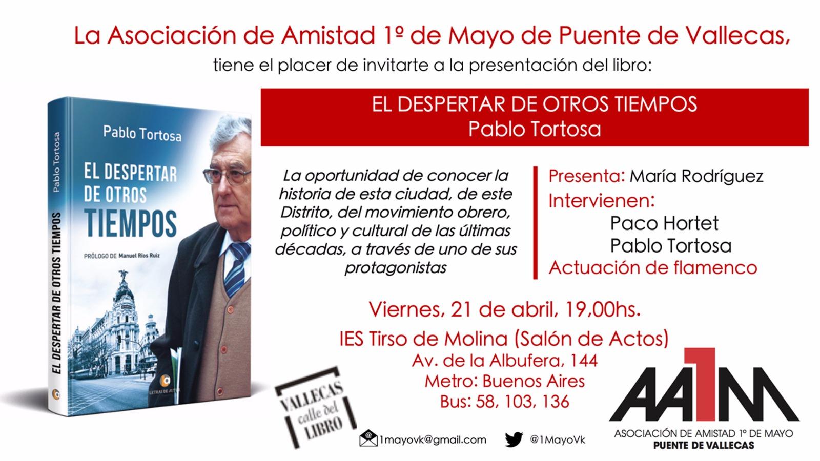 21 de abril presentación en Vallecas