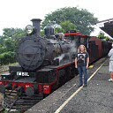 Me with the Red Rattler at Gympie station