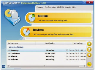 صورة من داخل برنامج backup maker