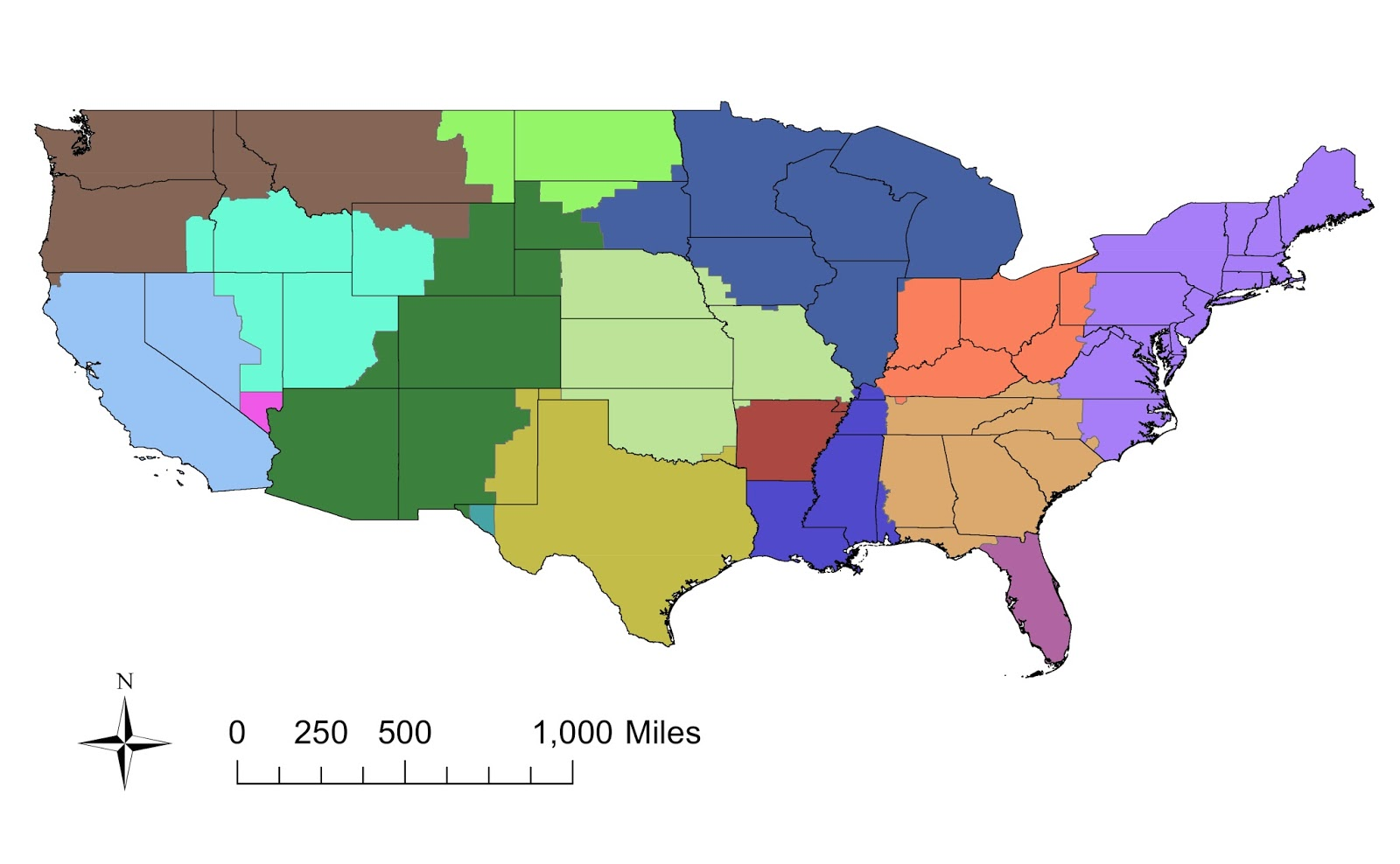 EScienceCommons How Flu Viruses Use Transportation Networks In - Flu in the us map
