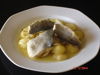 Authentic greek recipes greek 39 bianco 39 fish for Greek fish recipes