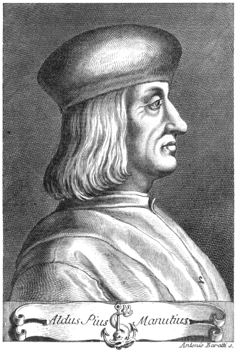 Aldo Manucio (Aldus Pius Manutius o Aldo Manuzio)