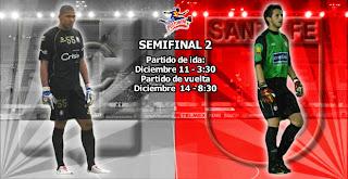 Partido Once Caldas Vs Santa Fe – Semifinal de Ida