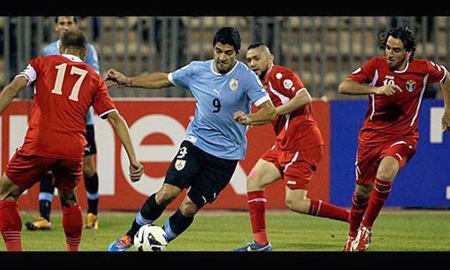 Uruguay vs Jordania, Repechaje
