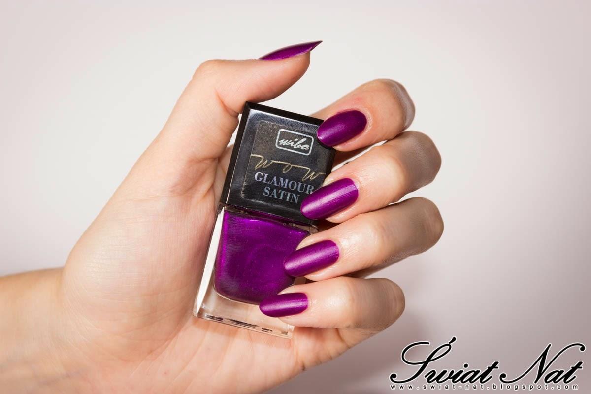 nails satynowy satyna fioletowy fiolet