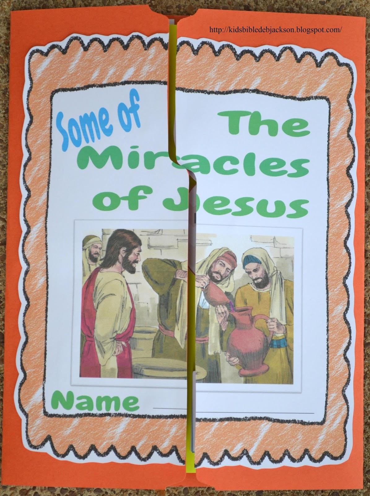 http://kidsbibledebjackson.blogspot.com/2014/07/miracles-of-jesus-lapbook_15.html