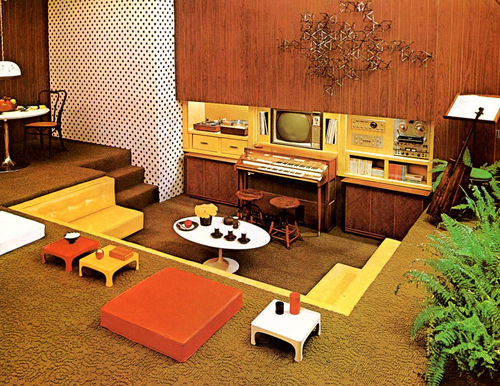 New home design ideas theme inspiration retro stylish for 60s office design