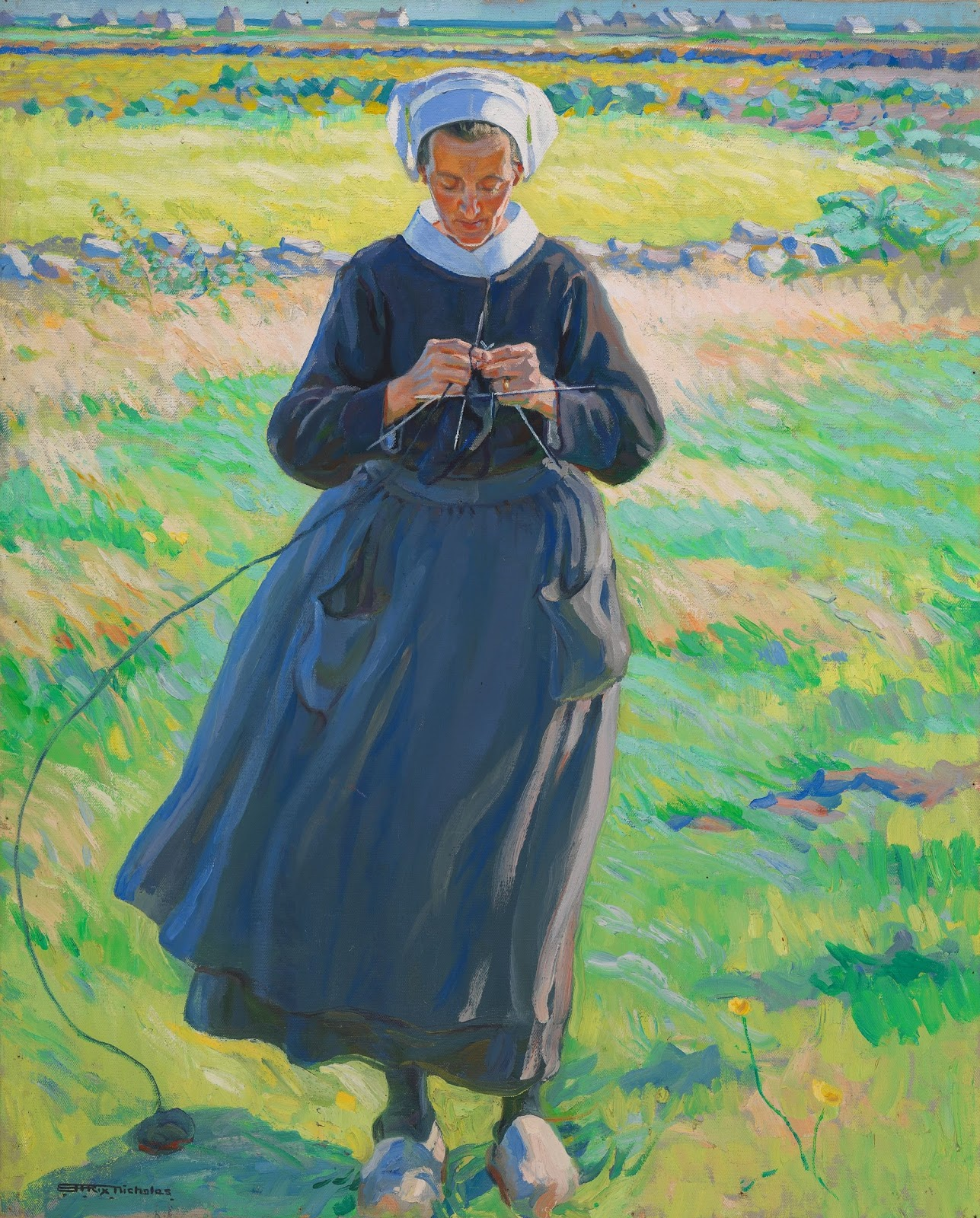 Hilda Rix Nicholas In the fields by the sea National Gallery of Australia