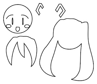 Hatsune Miku Magnet template with Bubs B4Astudios