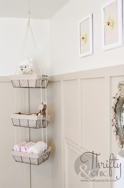 DIY Hanging Storage Baskets  All You Need Are Baskets And Some Rope!