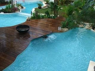 Agua y madera piscinas y albercas fotos de piscinas for Piscinas prefabricadas madera