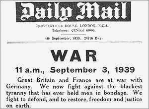 Image result for britain and france declared war on nazi germany