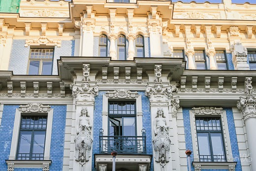 Art Nouveau in Riga, Latvia by akwiinas