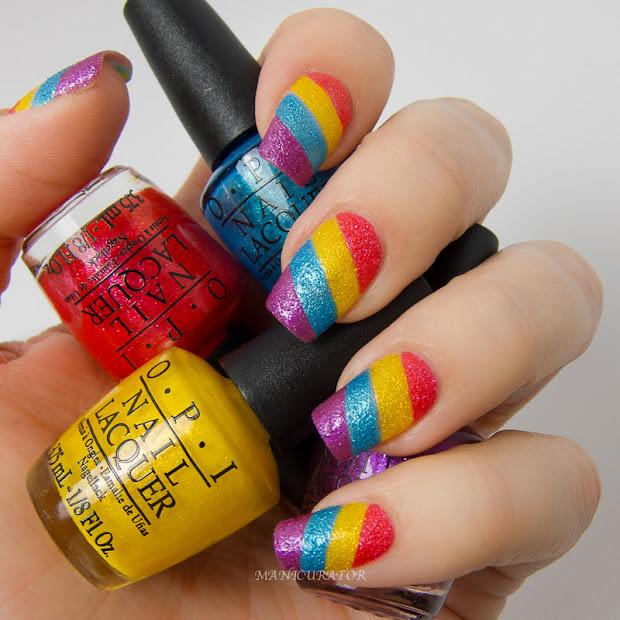 opi brazil textures rainbow nail