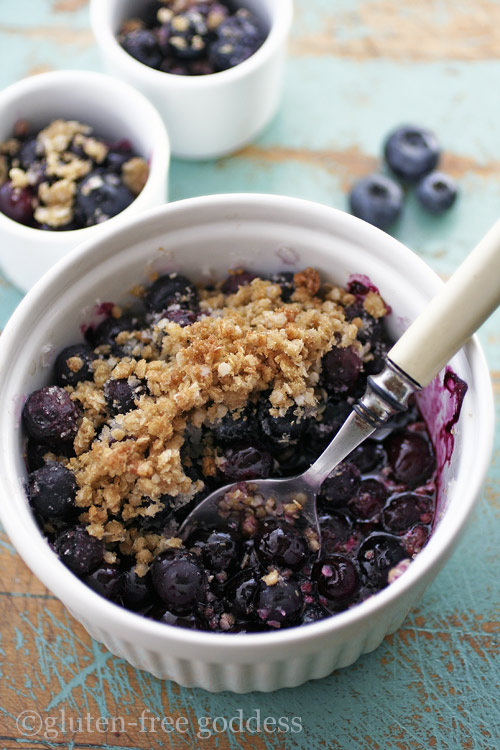 Gluten-Free Goddess Blueberry Crumble-Crisp Recipe