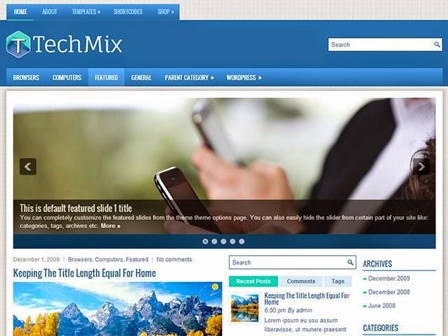TechMix - Free Wordpress Theme