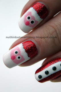 santa father christmas nails
