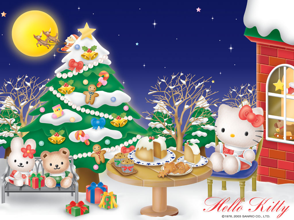 hello kitty christmas wallpapers hello kitty forever