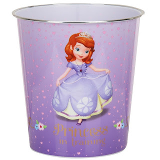 Your Royal Cutie Can Stash Her Trash In So Sweet Style With The Sofia The First Wastebasket This Plastic Purple Wastebasket Is Detailed With Princess In