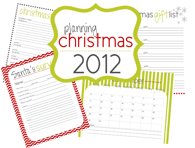 Lovely Little Snippets: Planning Christmas 2012 {Free Printables}