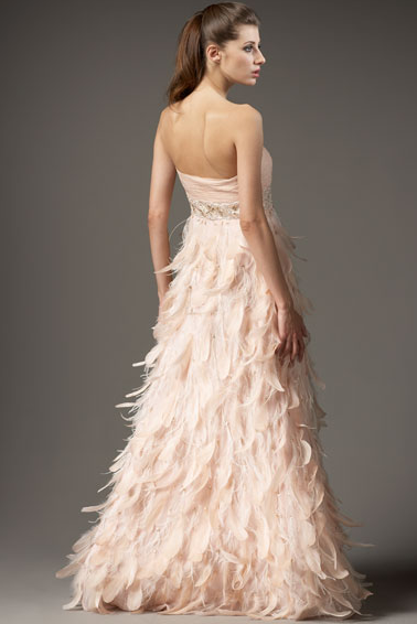 Pink Wedding Dress Feathers : Maybe this detailed picture show the sparklies better than white