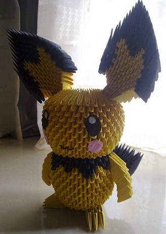 This Is A Adorable Cartoon Character In 3D Origami Check Out The 3d Pikachu