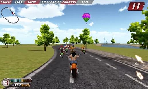 صورة من لعبة سباق الموتوسيكلات AE MOTO GP