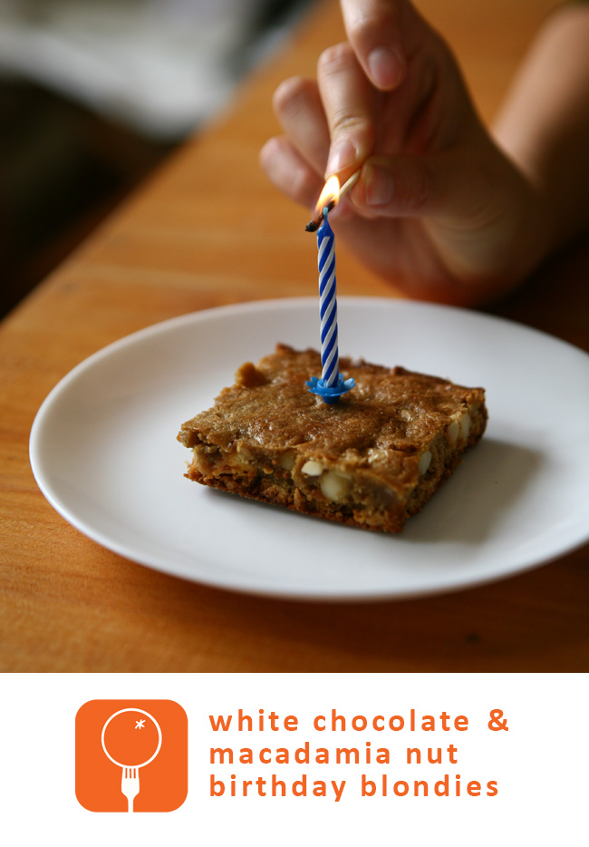 oinge: Test Kitchen - Birthday Blondies Breakfast