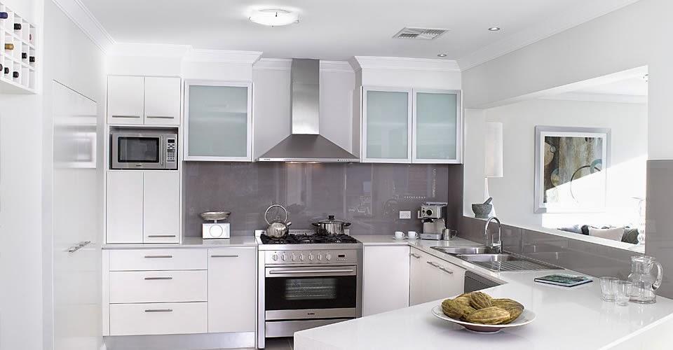 warna cat dapur modern putih