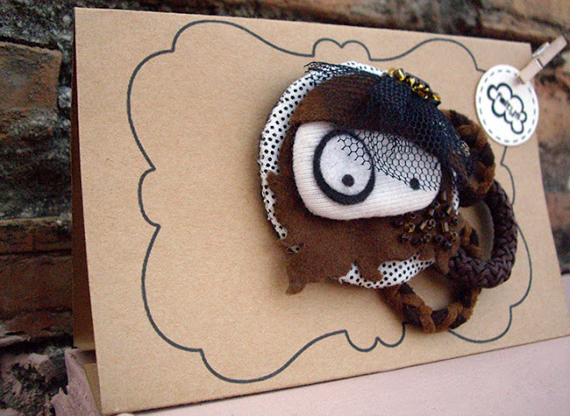 broche tocado tul & packaging stand (100% handmade with ♥)