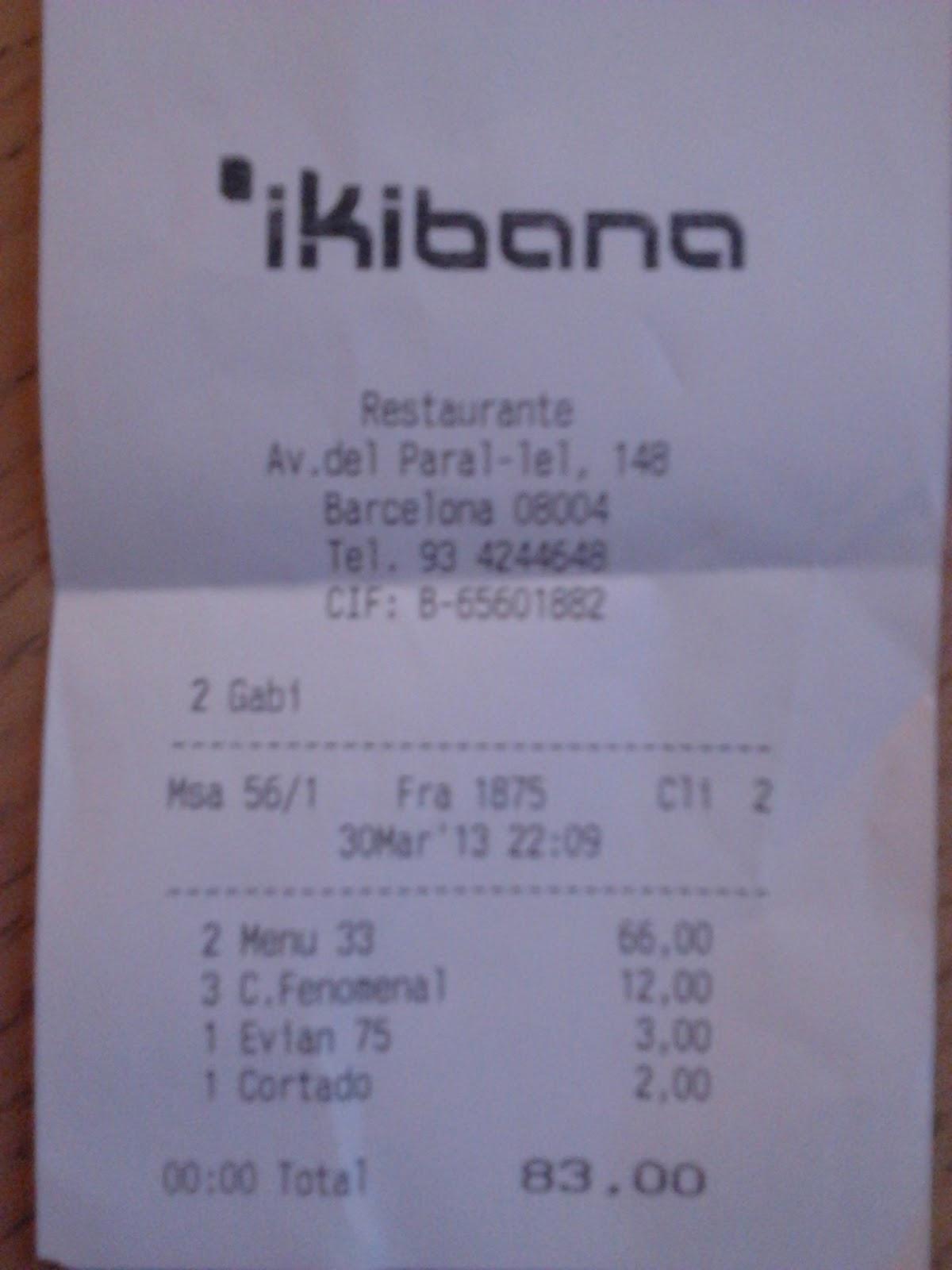 Gastronom a barcelona for Ikibana menu barcelona