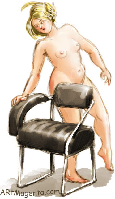 The Nonconformist chair is a life drawing by artist an illustrator Artmagenta