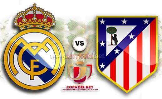 Empat Besar Copa del Rey 13/14 leg pertama, Real Madrid Vs Atletico Madrid