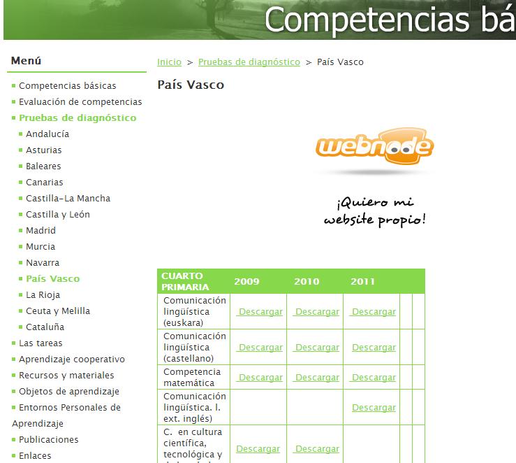 http://competenciasbasicas.webnode.es/pruebas-diagnostico/pais-vasco2/