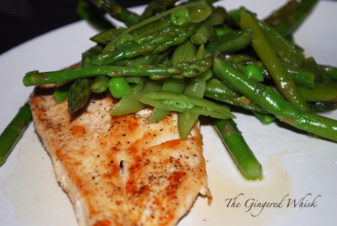 Chicken Scalliopine with Sugar Snap Pea, Asparagus, and Lemon Salad ...