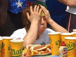 Stockphoto ;Hot Dog Eating Contest- competitive eating world Monday by ...