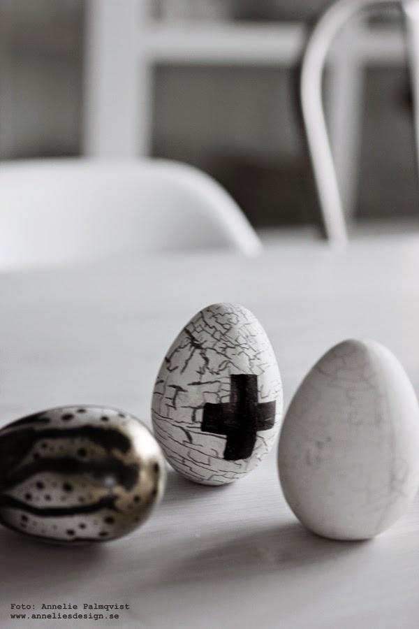 diy påskpynt, påsk, påsken 2015, påskpyssel, påskens, pyssla, göra eget, pyssel, diy, vitt, tupp, ägg, sprayfärg, kors, svart kors,