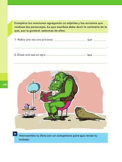 Apoyo Primaria Español 2do grado Bloque 4 lección 6 Palabras que significan lo opuesto
