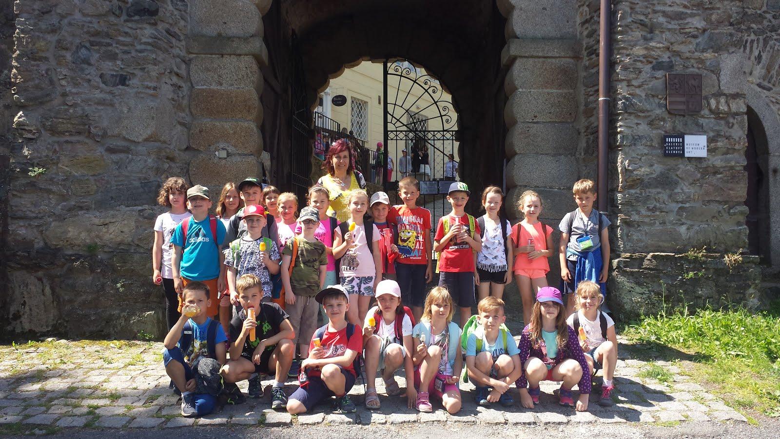 Školní výlet na hrad Klenová