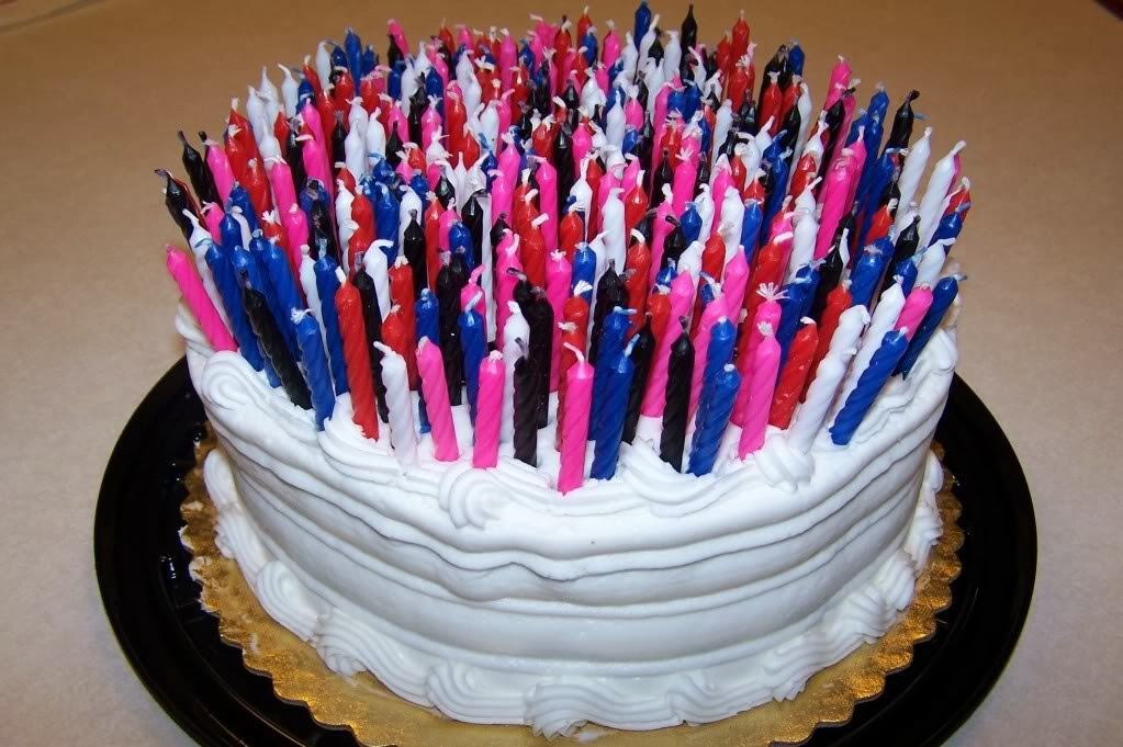 Birthday Cake On Fire Too Many Candles