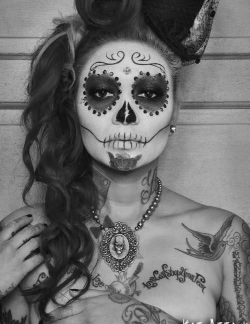 KITTENMOUSTACHE: Tutorial: Halloween! Day of the Dead (Sugar Skull)