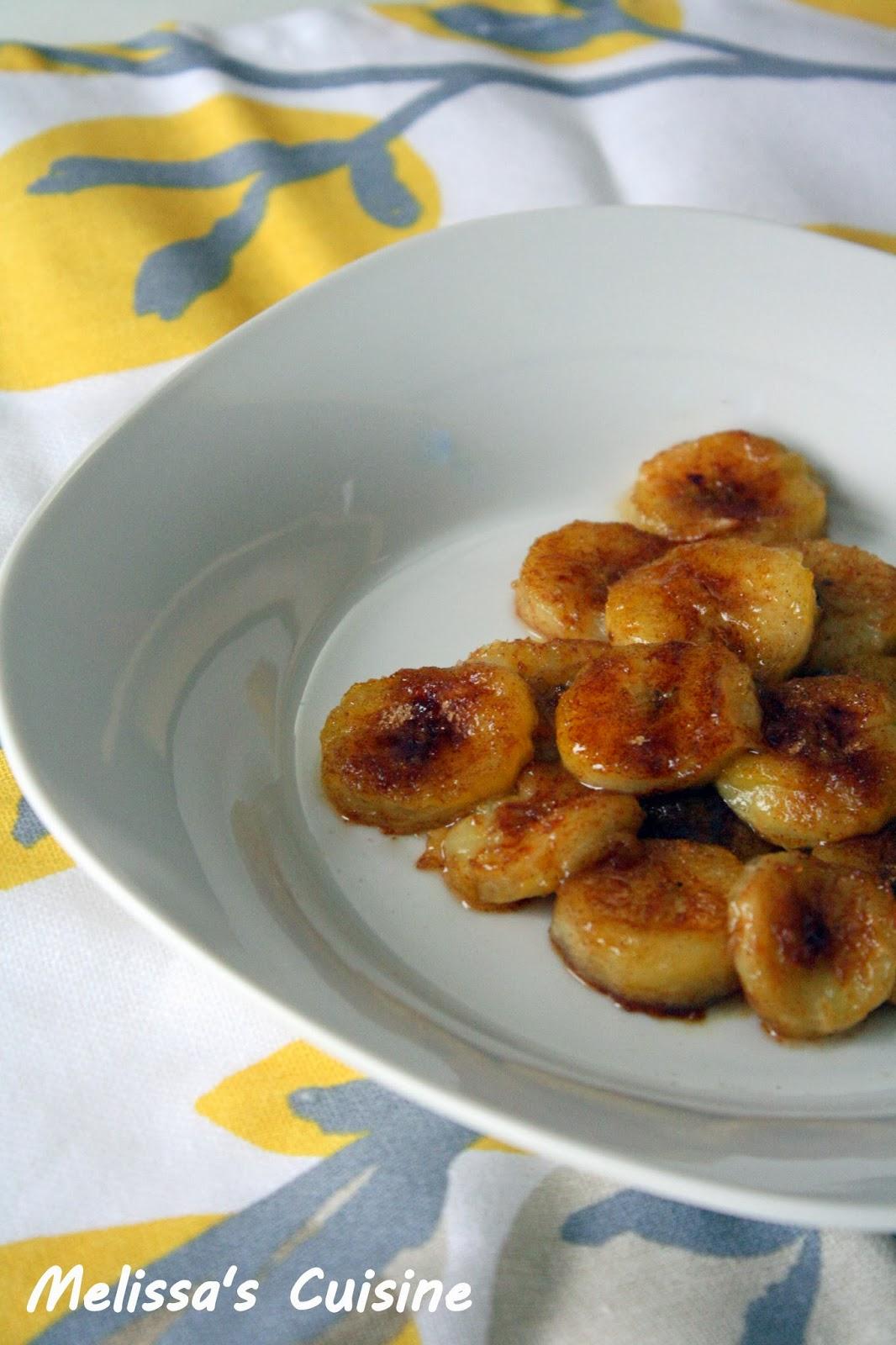 Melissa's Cuisine:  Pan Fried Cinnamon Sugar Bananas