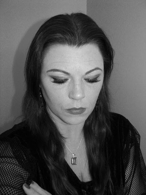 Morticia Addams hair and makeup