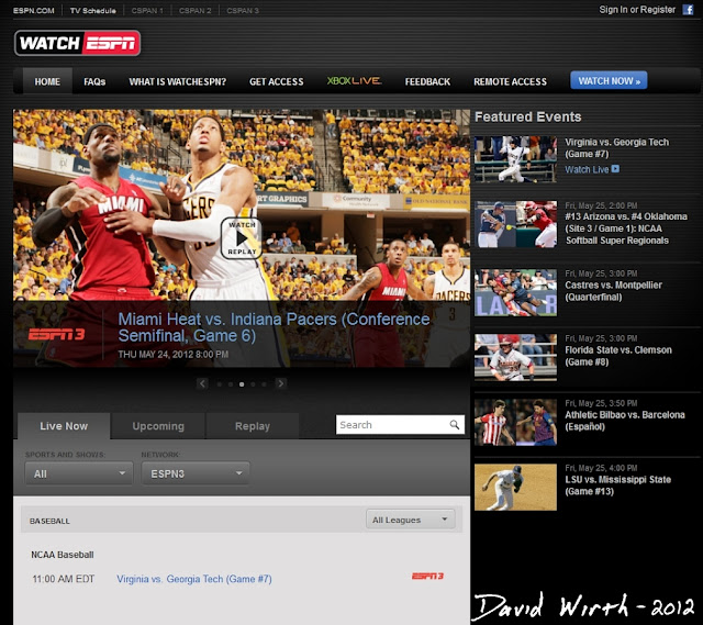 espn 360 espn 3 watch live sports game time schedule football basketball college stream online