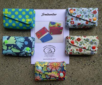 Små punge til lommetørklæder i forskellige patchwork stoffer